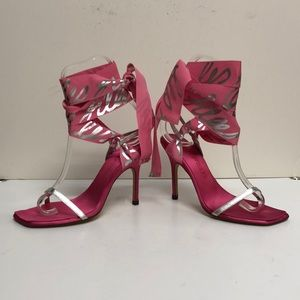 Bruno Frisoni Made in Italy Pink Satin Sandal